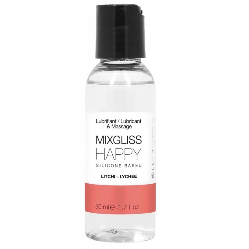 MIXGLISS SILICONE HAPPY - LITCHI 50 ML - les nuances du désir