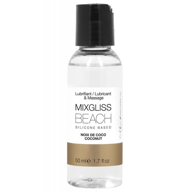 MIXGLISS SILICONE BEACH - NOIX DE COCO 50 ML - les nuances du désir