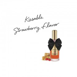 Huile de massage embrassable chauffante - fraise sauvage - les nuances du désir