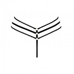 Aretusa String ouvert à franges