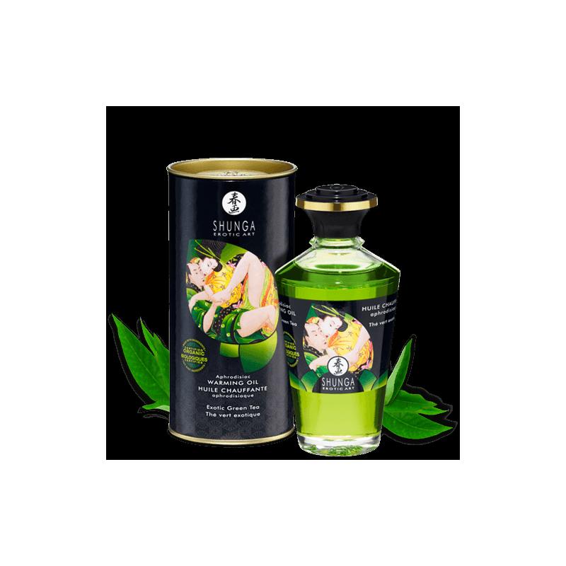 Huile aphrodisiaque organique  - thé vert exotique - les nuances du désir