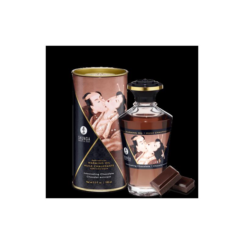 Huile chauffante aphrodisiaque chocolat enivrant 100ml