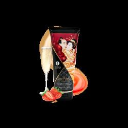 Crème de Massage delectable - Vin pétillant à la fraise - les nuances du désir