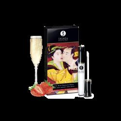 Gloss pour plaisir oral divin - vin pétillant fraise - les nuances du désir