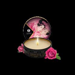 Mini bougie de massage lueur et caresses - aphrodisia - rose - les nuances du désir