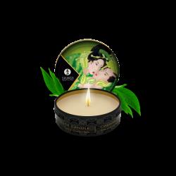 Mini bougie de massage lueur et caresses - Thé vert Exotique - les nuances du désir