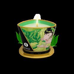 Bougie de massage lueur et caresses - Thé vert exotique - les nuances du désir