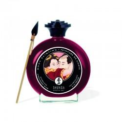 Peinture de corps embrassable - vin pétillant fraise - les nuances du désir