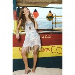 Robe de plage Style 7794 - Blanc - les nuances du désir