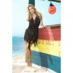Robe de plage Style 7794 - Noir - les nuances du désir