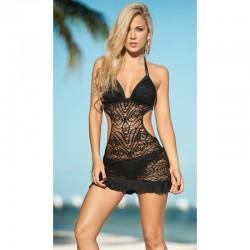 Robe de plage Style 1029 - Noir - les nuances du désir