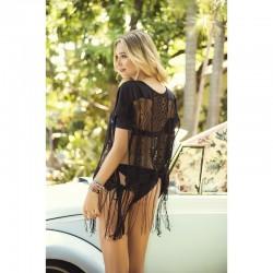 Robe de plage Style 7876 - Noir - les nuances du désir
