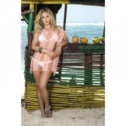 Robe de plage Style 7792 - Corail - les nuances du désir