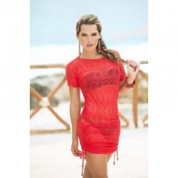 Robe de plage Style 7723 - Rouge - les nuances du désir