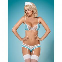 834-CST-6 costume infirmière bleu