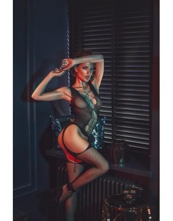 Chelsie Bodystocking - Noir - les nuances du désir