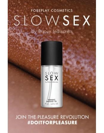 Huile de massage chauffante - Slowsex - 50ml - les nuances du désir