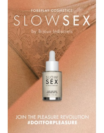 Huile intime sèche brillante - Slowsex - 30ml - les nuances du désir
