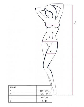 BS056a Bodystocking - Noir