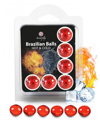 6 Brazilian Balls Cold Hot effect  3629-1- les nuances du désir