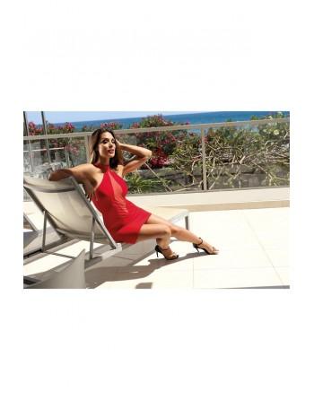 Robe V-9259  - Rouge - les nuances du désir