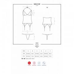 828-COR-1 corset and thong black