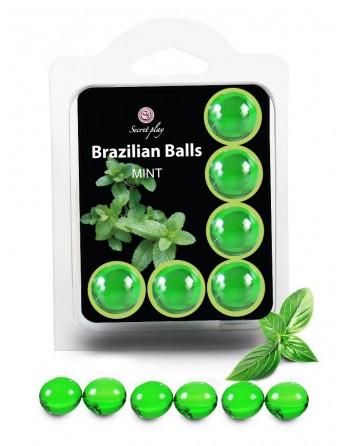 6 Brazilian Balls Menthe 3386-8 - les nuances du désir