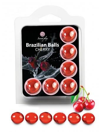 6 Brazilian Balls Cerise 3386-6 - les nuances du désir