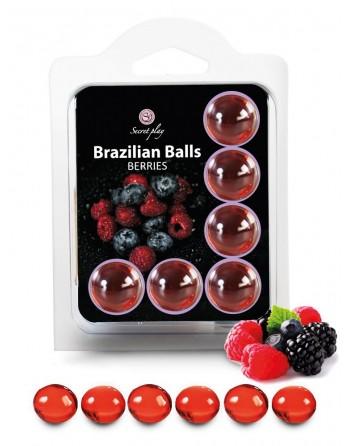 6 Brazilian Balls Fruits des bois 3386-5 - les nuances du désir