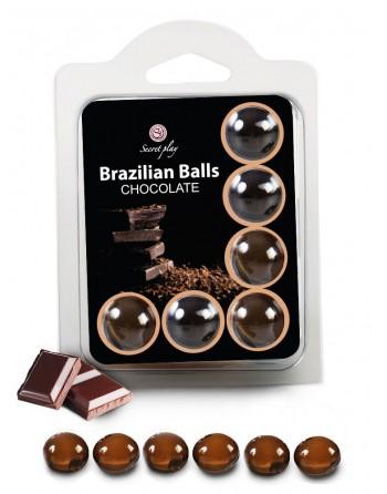 6 Brazilian Balls Chocolat 3386-1 - les nuances du désir