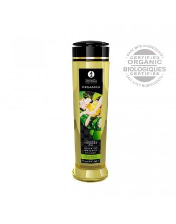 Huile de massage organique - Thé vert - 240 ml - les nuances du désir