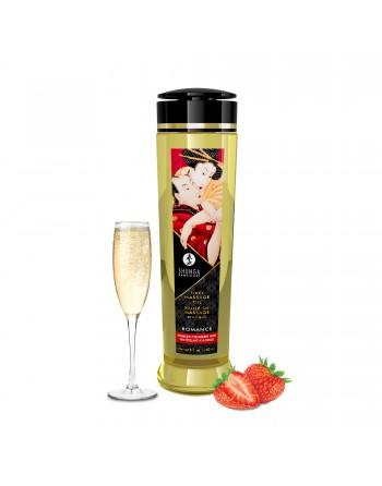 Huile de massage érotique - Romance - Vin pétillant fraise - 240 ml - les nuances du désir