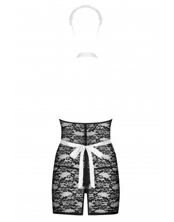 Servgirl Costume 5 pcs - Noir  Blanc