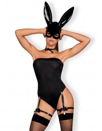 Bunny Costume 4 pcs - Noir