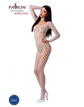 BS077W Bodystocking - Blanc - les nuances du desir