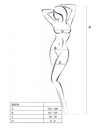 BS074B Bodystocking - Noir - les nuances du desir