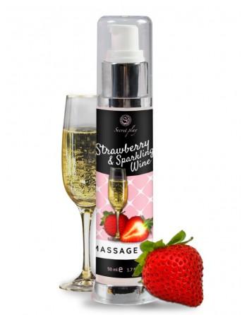 Huile de massage Fraise et Vin pétillant 3683 - 50 ml - les nuances du désir