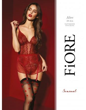 Alice Bas 20 DEN - Noir et Rouge - les nuances du désir