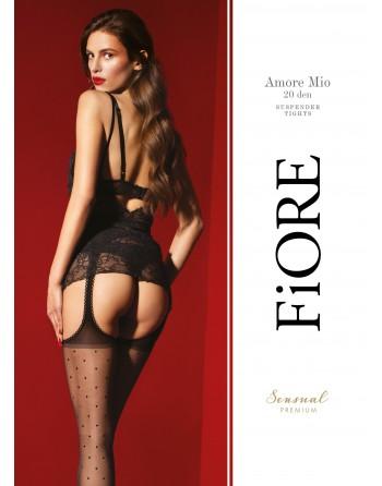Amore Mio Bas jarretelles 20 DEN -  Noir - Qualité premium - les nuances du désir