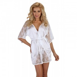 Magnolia dressing gown white