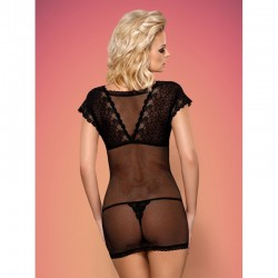 821-CHE-1 chemise and thong black