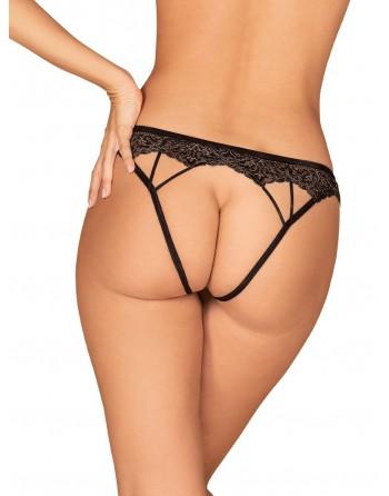 Meshlove Culotte ouverte - Noir - les nuances du désir