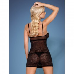 818-CHE-1 chemise and thong black