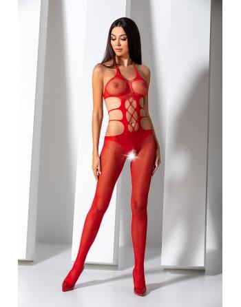 BS084R Bodystocking - Rouge - les nuances du désir