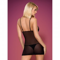 820-CHE-1 chemise and thong black