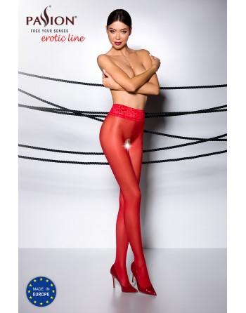 TI008R Collants ouverts 30 DEN - Rouge - les nuances du désir