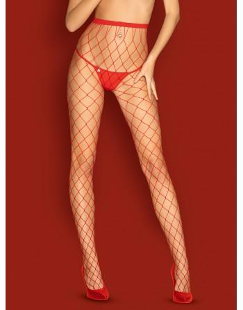 Collants S812 - Rouge - les nuances du désir