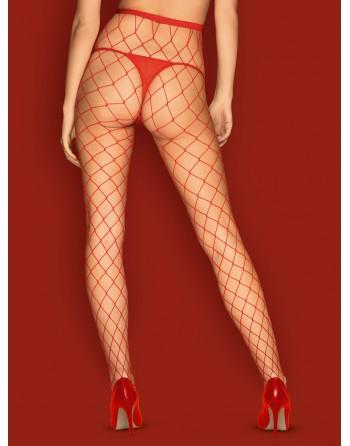 S812 Collants - Rouge - les nuances du désir