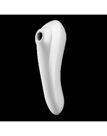 Stimulateur vibromasseur connecté Satisfyer Dual Pleasure - Blanc