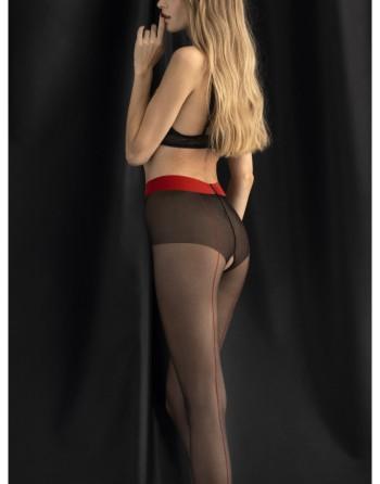 Collants Firelight 20 DEN - Noir et rouge - les nuances du désir
